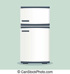 fridge icon flat design - Illustration of fridge icon flat...