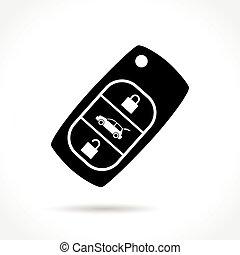 car key icon on white background - Illustration of car key...