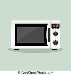 microwave oven icon - Illustration of microwave oven flat...