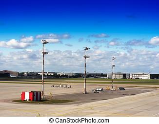Transportation airfield landscape background hd