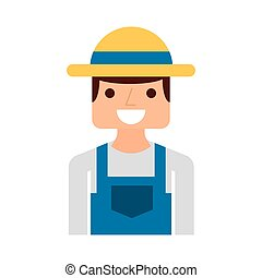 farmer character isolated icon vector illustration design