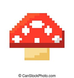 fongus game pixelated icon vector illustration design