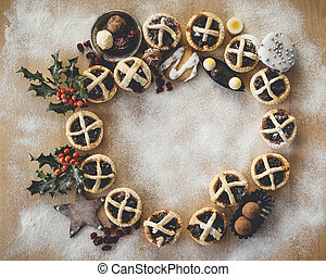 Christmas Mince Pies - Mince Pies presented in a circle...