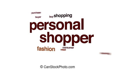 Personal shopper animated word cloud.