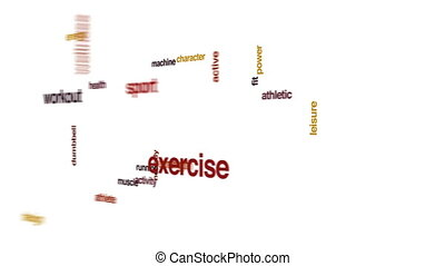 Treadmill animated word cloud.