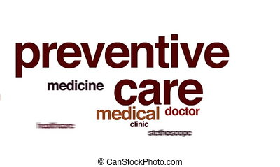 Preventive care animated word cloud.