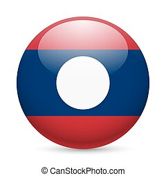 A badge in colours of Laos flag - A round badge in the...