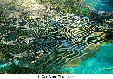abstract reflection in water - abstract bright multicoroled...