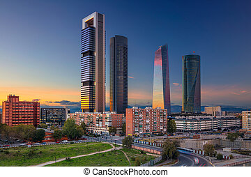 Madrid. - Image of Madrid, Spain financial district with...