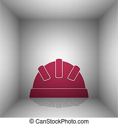 Baby sign illustration. Bordo icon with shadow in the room.