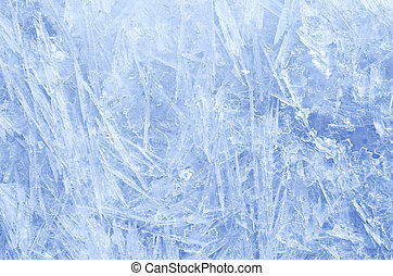 Blue ice crystals texture