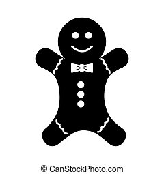 christmas ginger bread decorative icon vector illustration...