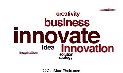 Innovate animated word cloud.