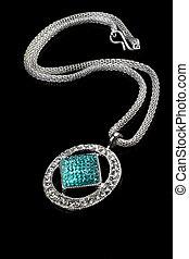 Diamon Jewelry Pendant Necklace Royalty Free Stock Photo