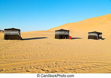 Berbère,  Oman, tente, gens