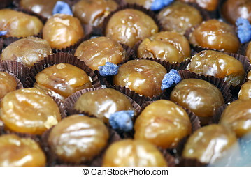 Chestnut or marron glace - French chestnut or marron glace...