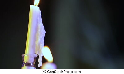 Candlestick candle Jewish - On Batmitsve candle for lighting...