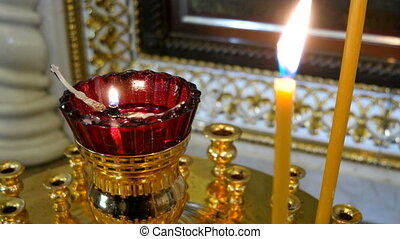 Candleholder. Details in the Orthodox Christian Church....