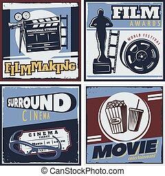 Surround Cinema Movie Composition - Colorful square...