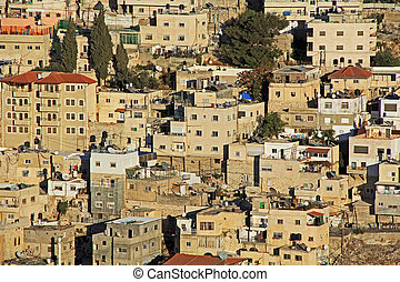 Homes on a Hillside in Jerusalem, Israel