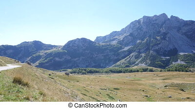 Mountains inside a national park Durmitor, Montenegro