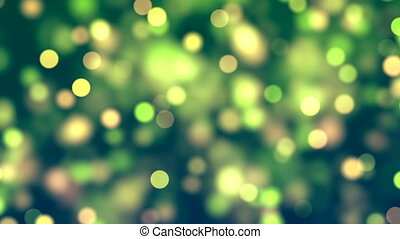 Abstract Loopable Background with nice green bokeh
