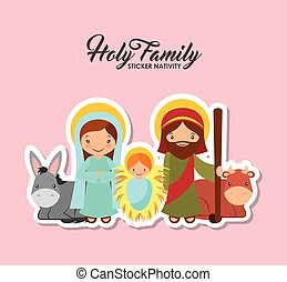 holy family design - holy family characters. virgin mary...