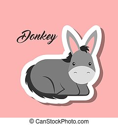 donkey animal sticker