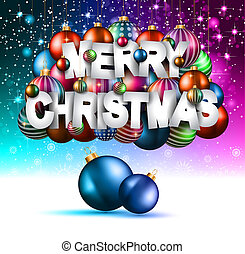 Merry Christmas Background for your seasonal invitations and...