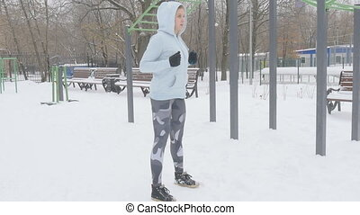 Fitness Workout Outdoors Winter
