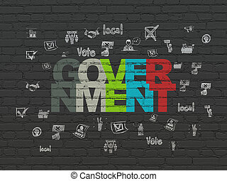 Political concept: Government on wall background