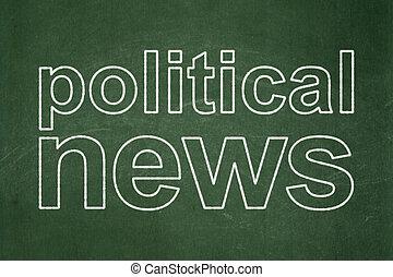 新聞,  concept:, 政治, 黑板, 背景