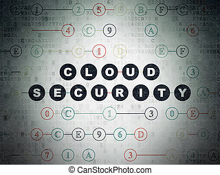 Safety concept: Cloud Security on Digital Data Paper background
