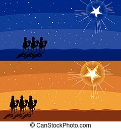 Following Shining Star - Two different color Christmas...