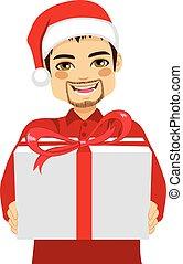 Dar, regalo, hombre