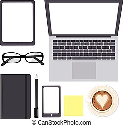 Mockup Office Elements - Mockup office elements and devices...