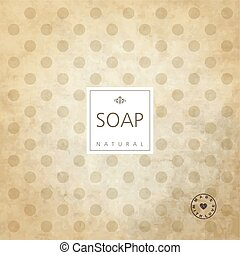 Background for natural handmade soap.