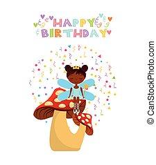 fairy birthday card