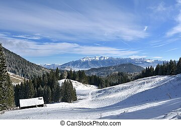 Winter in Carpathians mountains, Romania