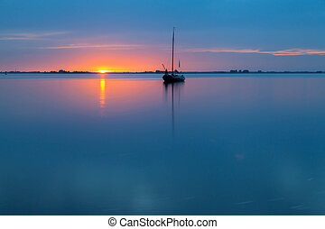 Marken at sunset, North Holland - Marken is a small island...