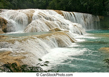 waterfalls Cataratas de Agua Azul Mexico