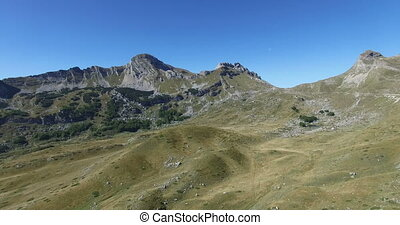 Aerial view of Durmitor Mountains of Montenegro