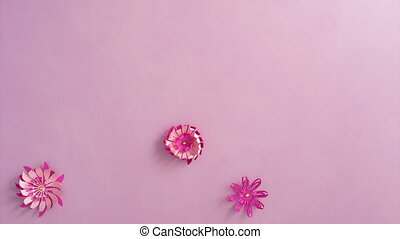 Paper flowers on the table - Handmade colorful paper flowers...