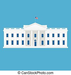 White house vector - Vector illustration white house...