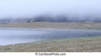 Beautiful mystical Black Lake, Durmitor National Park....