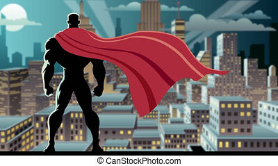 Superhero Watch 3 - Looping animation of superhero watching...