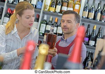 klient, sprzedawca, Wino