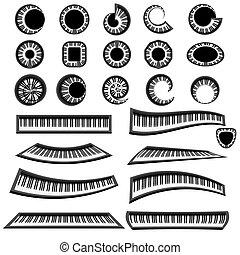 鋼琴, 鍵盤, 被隔离, 音樂
