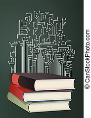 book electronics - illustration of open book
