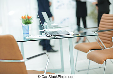 Business team working at the office using laptop